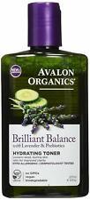 Avalon Organics Brilliant Balance w/ Lavender & Prebiotics Hydrating Toner, 8oz