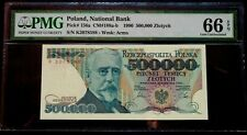 More details for 🍀 🇵🇱 poland. genuine 500.000 zloty 1990 pmg graded 66 epq gem uncirculated
