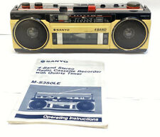 Sanyo M-S350LE Stereo 4 Band Radio Cassette Recorder mit Anleitung