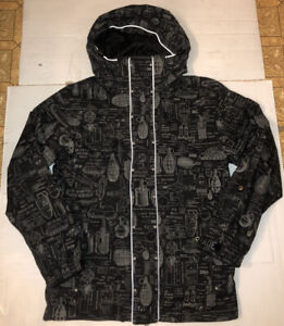 Grenade Fatigue Project Snowboarding Jacket Men's Size Small Black And Grey