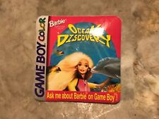 Vintage 1999 Barbie Ocean Discovery Nintendo Game Boy Color Video Game Promo Pin