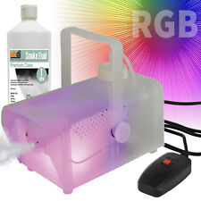 QTX 400W Fog Smoke Machine Inc Remote and Fogger Fluid with Glow Light Effects