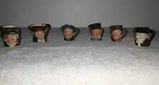 Vintage Royal Doulton Miniture Toby Jugs Lot of 6