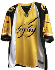 Vintage Fubu Hip Hop 05 Official Xl Collection Football Jersey Black Yellow