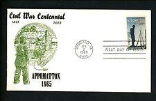 US FDC #1182 Centennial NIM 1965 Appomattox VA Appomattox Surrender Civil War