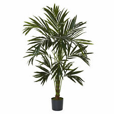 Kentia Silk Tree Artificial Realistic Nearly Natural 6' Home Garden Decoration