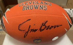 Jim Brown Cleveland Browns Signed Autographed Logo Rubber Football