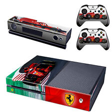 Formula 1 F1 Ferrari Scuderia Xbox One Vinyl Skin Sticker Console & 2 Controller