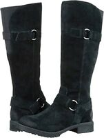 New Clarks Ladies Faralyn Dawn Black Suede Long Riding Boots Size 6.5/40 D
