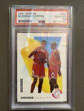 1991 SKYBOX MICHAEL JORDAN/SCOTTIE PIPPEN #462 PSA 10 GEM MINT HOF BULLS