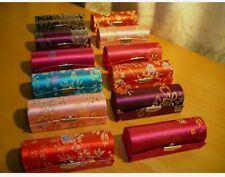 Joblot 12pcs Embroidery Lipstick Cases With Mirror Wholesale UK Stock