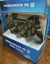 Double Shock Wireless Controller For PS3 Black Boxed