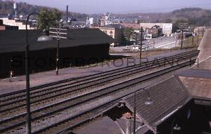 Original slide- PRR Jeannette PA station and town; 10/1963