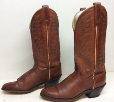 VTG WOMENS ACME COWBOY LEATHER BRICK RED BOOTS SIZE 6 A