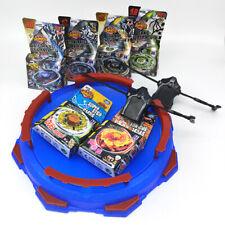 6x Beyblade Metal Fusion Fury Masters 4D System Stadium w/ Launcher Bayblade SET