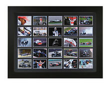 STUNNING LEWIS HAMILTON 25 IMAGE MULTI WORLD F1 CHAMPION SIGNED TRIBUTE