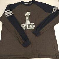 Mens 2XL Super Bowl XLV 45 Long Sleeve Raglan Shirt Green Bay Packers Champion