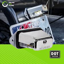 Surface-Mount DOT/SAE LED License Plate/Tag Light Trailer RV Truck Boats- Chrome