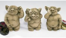 Set of 3 Mini: Bad Habits Gargoyle Trio Garden Statues - Nose, Ear, Bum Pickers