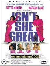 ISN'T SHE GREAT Bette MIDLER Nathan LANE John CLEESE Comedy Film DVD Reg 4 Isnt