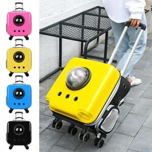 Portable Travel Pet Cat Backpack Trolley Carrier With Wheels For Small Dog Puppy