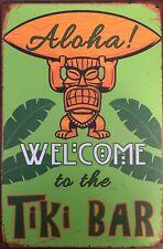 TIKI BAR Garage Retro Vintage Metal Tin Sign Rustic Look ..  AU SELLER