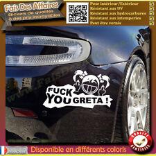 stickers autocollant fuck greta tuning decal