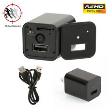 1080P SPY Camera Hidden Full HD USB Mini AC Adapter Wall Charger Motion Micro SD