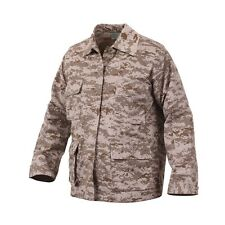 Desert digital camouflage military style combat uniform BDU top Mens size L NWT