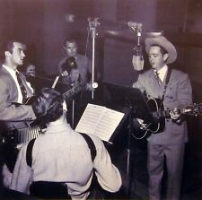 MERLE TRAVIS clipping B&W photo Gibson acoustic guitar '40s country Sixteen Tons