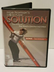 Single Plane Solution Secrets of Moe Norman 2 DVD Set Graves Golf Academy