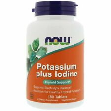 Now Foods Potassium plus Iodine Thyroid Support Tablets - Pack of 180 (1452)