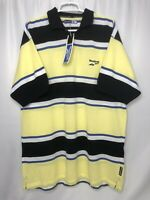 Reebok Mens XL Golf Polo Shirt Striped RBK NWT