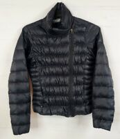 ATHLETA Downalicious Puffer Small Jacket Goose Down 800 Women's Black Packable
