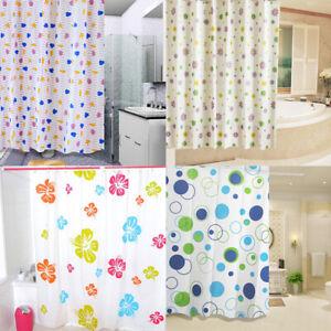 Modern Shower Curtain Waterproof Bath Curtains With Hooks Bathroom Acces