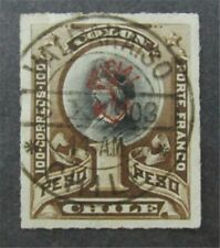 nystamps Chile Stamp # O16 Used $500 Signed