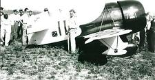 GEE BEE #11 AIRPLANE & PILOT - FROM VINTAGE NEGATIVE 5 x 7  B & W  PHOTOGRAPH