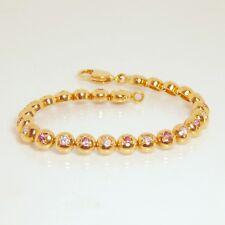 18ct Gold Tourmaline & Diamond Tennis Bracelet - with valuation $6,970
