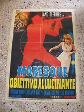 V8 MANIFESTO ORIGINALE 2F MORESQUE OBIETTIVO ALLUCINANTE JEFFRIES SUN GILLY