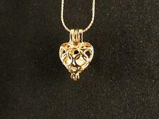 Anhänger 24 Karat Gold Herz Strass Liebe Love Halskette Schmuck Damen