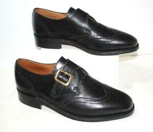 Men's E.T. WRIGHT Masters Collection 8122B Black Monk Strap Dress Shoes Sz 8 EE