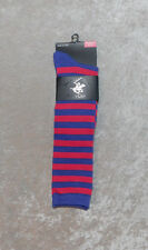 Ladies Beverly Hills Polo Club Striped Knee High Socks 6 Colors