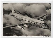 B.E.A. VISCOUNT AIRLINER IN FLIGHT: Aviation postcard (C17477)