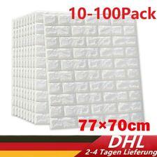 10-100 3D Tapete Wandpaneele Selbstklebend Ziegelstein Wasserdicht Wandaufkleber
