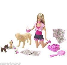 Poupée Barbie caramel et chiots année de faire de 2007 NEUF RARE
