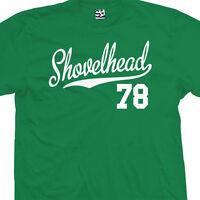 Shovelhead 78 Script Tail T-Shirt - 1978 Motorcycle Bobber Chopper - All Colors