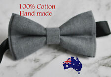 Men Women 100% Cotton Matte Mottled Grey Gray Craft Bow Tie Bowtie Wedding Party