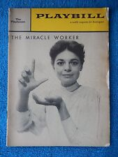 The Miracle Worker - Playhouse Theatre Playbill - July 27, 1960 - Anne Bancroft