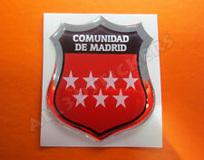 Pegatina Emblema 3D Relieve Bandera Comunidad de Madrid-Todas Banderas del MUNDO