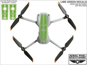 DJI Air 2S Racing Stripes With Battery Decals Number #1-3 Sticker Skin